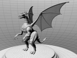 3D Dragon modeling by yashmeet135