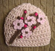 crochet pink baby hat by meekssandygirl