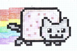Nyan Nyan Cat by milaqt
