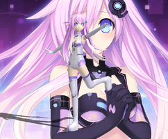 Hyperdimension Neptunia Mk2 - Purple Sister XPS DL by CreamFireballXNALara