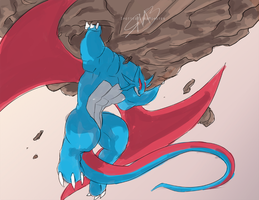 Comm - Salamence Super Training by SpottedAlienMonster