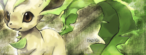 Leafeon Signature by PlopHero