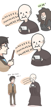 HP: VOLDY PLAYS ANGRY BIRDS by Randomsplashes