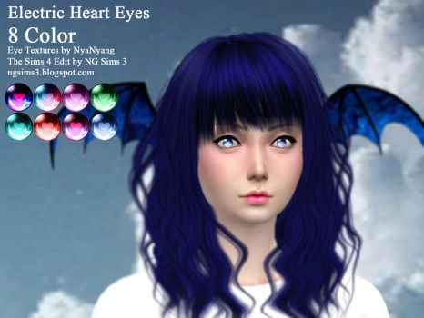 Electric Heart Eyes - TS4CC Download by ng9