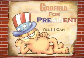 Garfield for president by Patrick75020