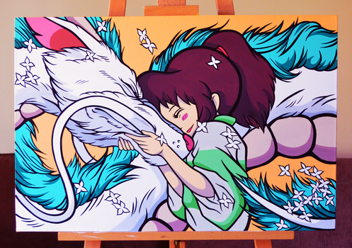 Haku and Chihiro, Spirited Away by Bree-Leeds