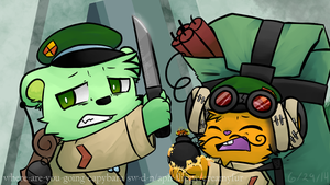Monsieur the Bomb! (Operation: Tiger Bomb Redraw) by CRANBEARY