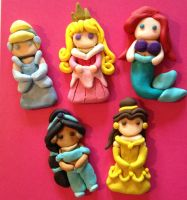 Disney Princess Bow Centers / Ornaments / Pendants by IcyPanther1