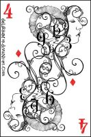 4 of diamonds by vasodelirium