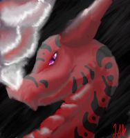Red Dragon Quick Paint by Whisper-of-a-phoenix
