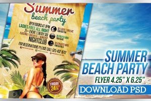 Summer Beach Party - Flyer Template by LouisTwelve-Design