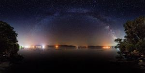 Milky way over river Danube by BorisMrdja
