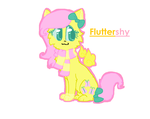 Fluttershy as a Kitty by BugglesBuggies11