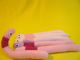 Posable Worm Plush FOR SALE by chu-po-po