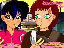 Gaara x Aome-Ramen of Love by aomehigurashi258