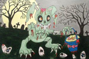 Zombie Easter Wabbit by ianhogger