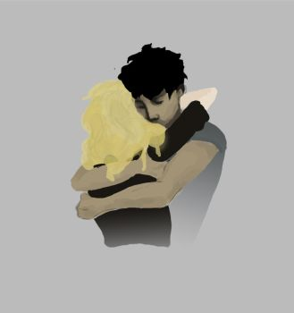 Bellamy Blake et Clarke Griffin 2 by Gomaar
