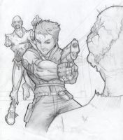 Chris Redfield Pencils by Gundamjack
