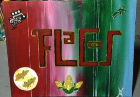 PAinting for Flacos restaurant by djagenta