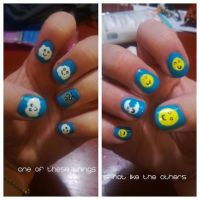 Odd Man Out Nail Art by ineedacat9