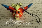 Hand made Gnar cell phone charm by CupCakeMonster2