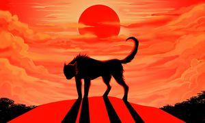 Red sun by CrookedLynx