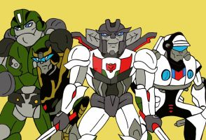 TF: the Wreckers and the Ninja Bots by xero87