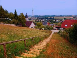 Stairway to the village center by patrickjobst