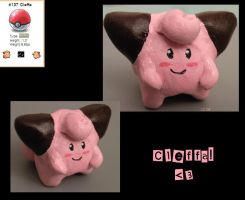 Cleffa Sculpy by lcpatchworkheart