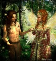 the horned god and Faerie queen by Dollysmith