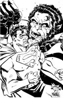 Supes and Kalibak brush pic by RougeDK