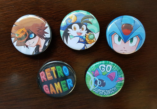 Gamer Button Samples by Christina-LY