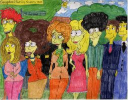 The Couples in Springfield by Toongrrl