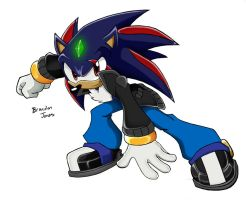 :archie: Hybrid the Hedgehog by LeatherRuffian
