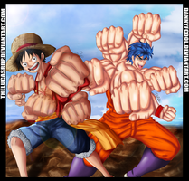 Collab - Luffy and Toriko by DannyFCool