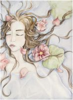 Sleeping Ophelia by MJ-green