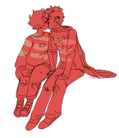 dave and karkat sittin in a tree, k-i-s-s-i-n-g by colorwonders