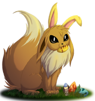 Easter Eevee Art Trade by jewlecho