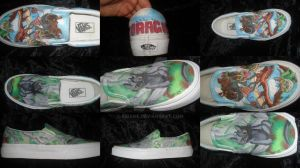 Commission: HTTYD Custom Shoes by Kibame