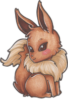 COPIC: Eevee by LaGunn