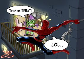 spidey's halloween by jack0001