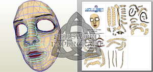Doctor Who Liz Ten's Mask Papercraft by HellswordPapercraft