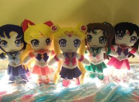 Sailor Senshi Plushies by frillycarnival