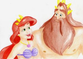 Athena and Triton by ChristieBase