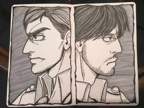 Erwin and Mike by RubyRojos