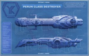 Perun Class Destroyer Blueprint by yazjack