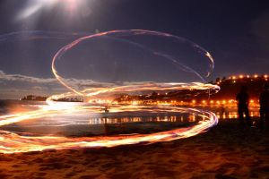 Full Moon Fire by LiquidityImages