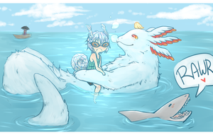 Swimming with Ipo by Kisuzumi
