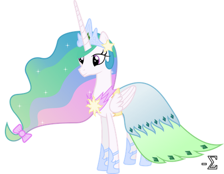Princess Celestia's Gala Dress by 90Sigma