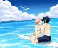 SasuSaku: Summer with you by sonteen12